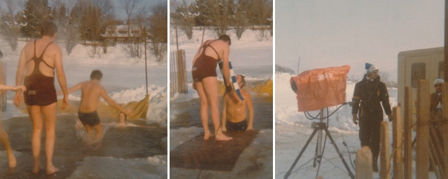 CKSO TV Tonite Show - Polar Bear Dip 1974